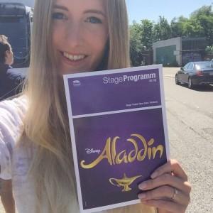 Leslie Huhn beim Musical Aladdin in Hamburg